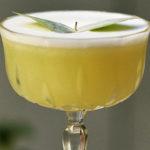 Eucalyptus martini коктейль на основе в красивом коктейльном бокале Tanqueray Ten сироп эвкалипт сок лайма Cointreau белок