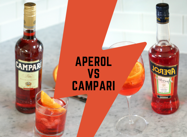 aperol VS campari сравнение что лучше разница одно и тоже две бутылки и два коктейля итальянский аперитив