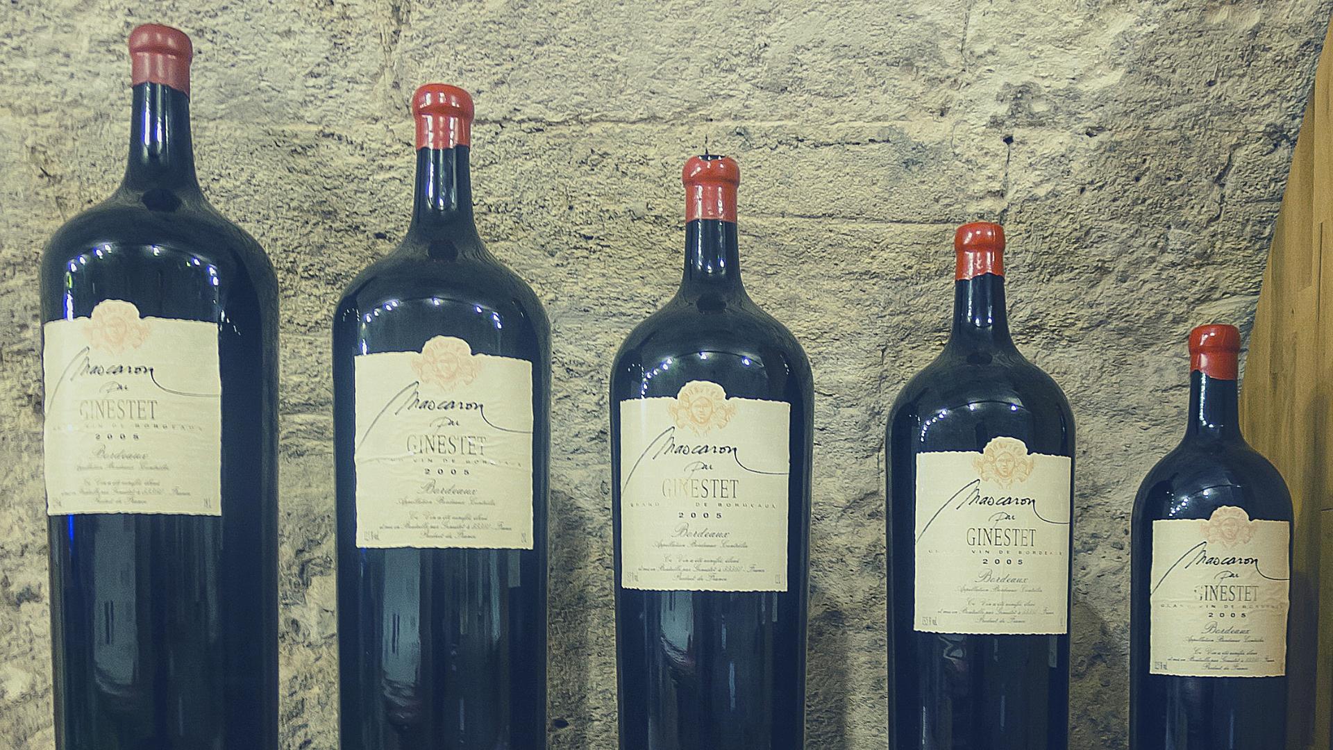 пять 5 бутылок вина от маленькой до большой ретро упаковка