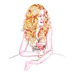 Carrie Bradshaw иллюстрация Кэрри Бредшоу актриса героиня секс в большом городе