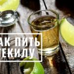 как пить текилу