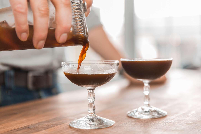 Espresso Martini making