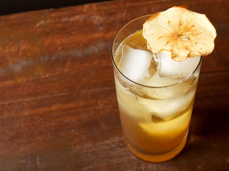 яблочный бренди рецепт коктейль с сидром чипс слайс хайбол он топ