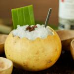 The Сafé Сantata коктейль необычная подача бамбуковая трубочка барные тренды