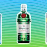 три джина танкерэй бомбей сапфир и лариос сравнение описание джинов лучшие джины мира алкоголь бутылки коллаж на фоне фруктов