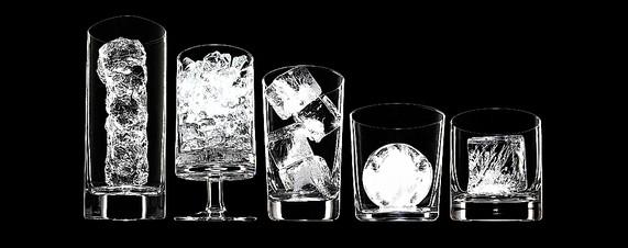 красивый лед в разных бокалах для чего какой лёд в баре