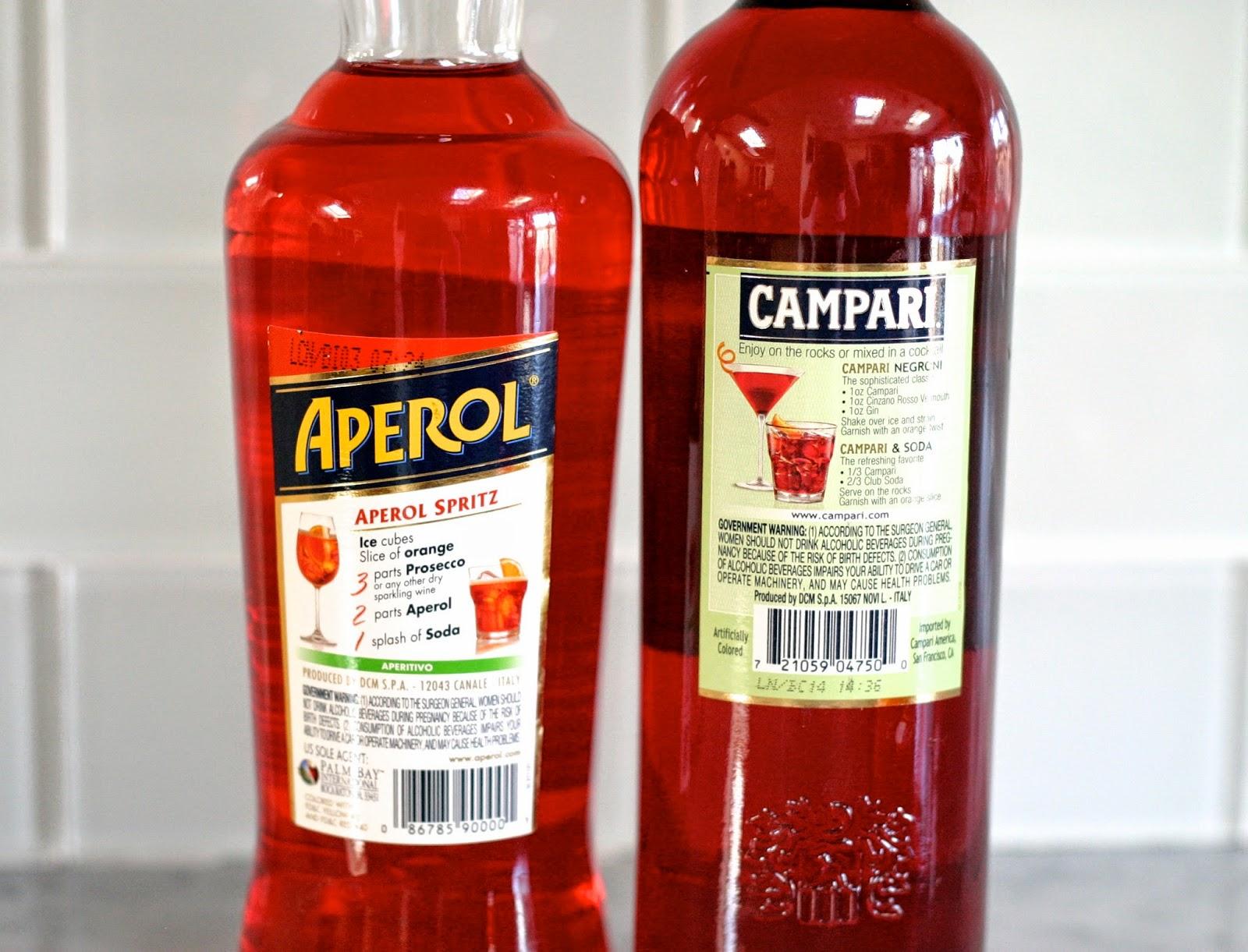 бутылки Campari Aperol сравнение и отличия этикетки аперитивов из Италии