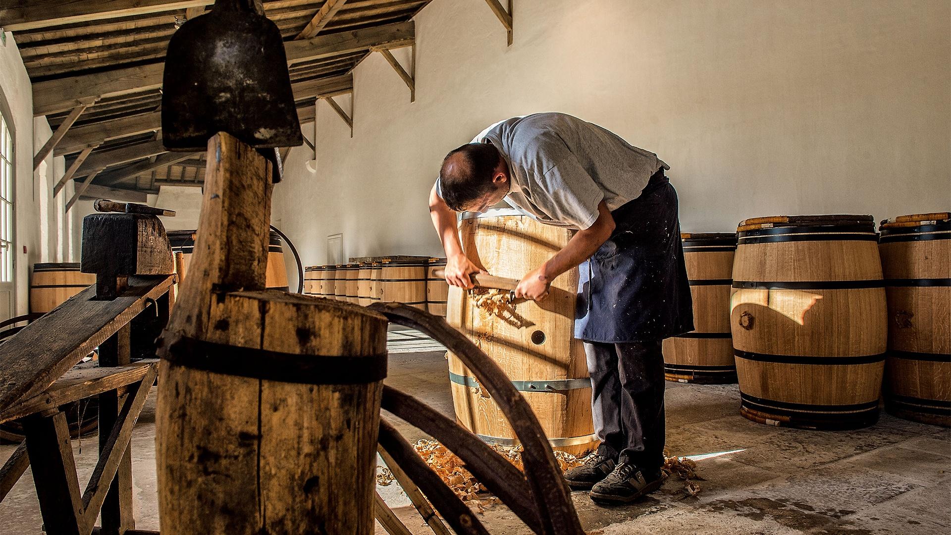 Изготовление бочек для вина